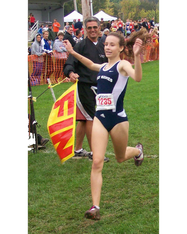 Image of the John Convertino Girls Varsity race winner Leah Triller from Academy of the Holy Names