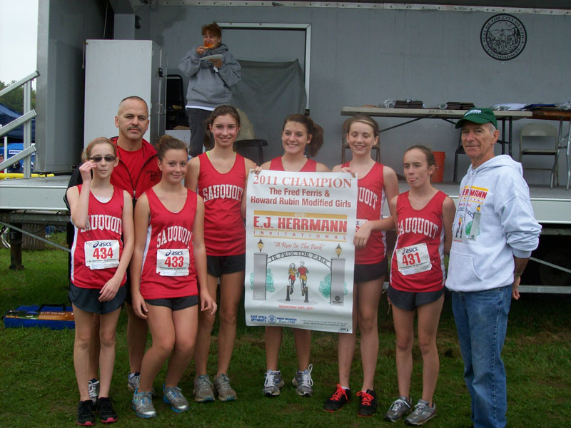 Image of the Fred Ferris and Howard Rubin Girls Modified winning team Sauquoit Valley