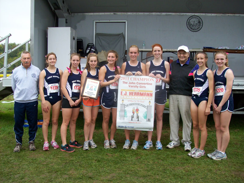 Image of the John Convertino Girls Varsity winning team Academy of the Holy Names
