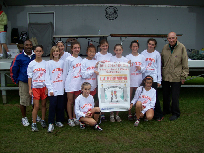 Image of the Monsignor Francis J. Willenburg Girls Modified winning team Liverpool