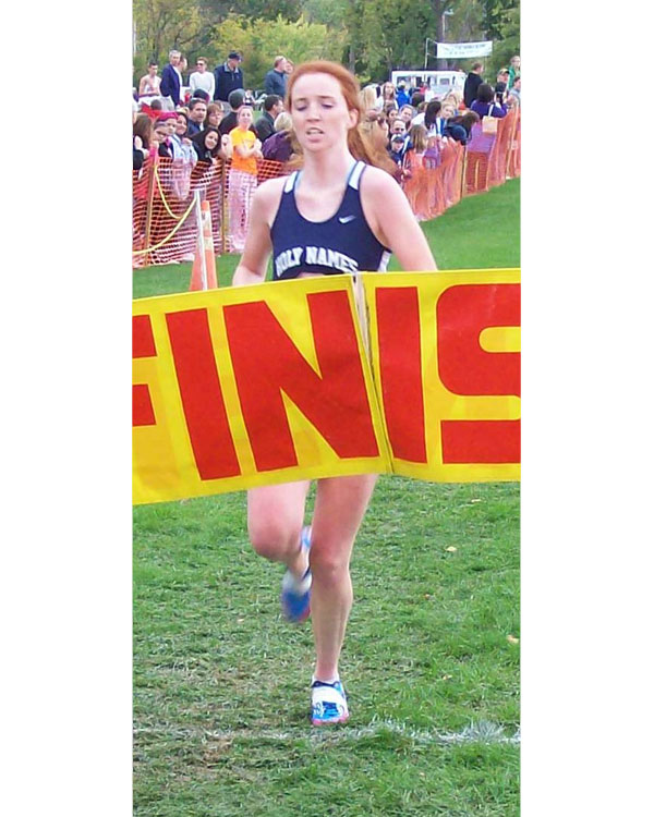 Image of the John Convertino Girls Varsity race winner Catherine Maloy from Academy of the Holy Names