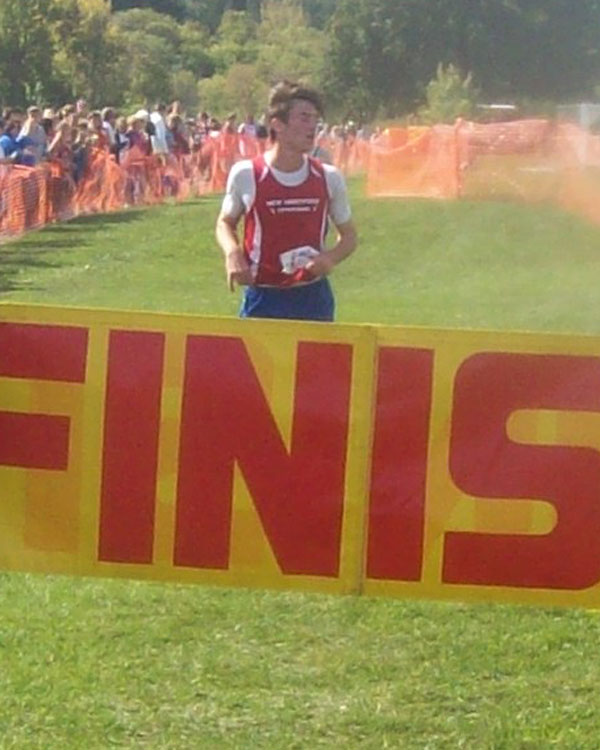 Image of the Brian Dodge Boys JV race winner Julian Joyce from New Hartford