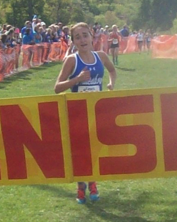 Image of the John Convertino Girls Varsity race winner Justyna Wilkinson from Whitesboro