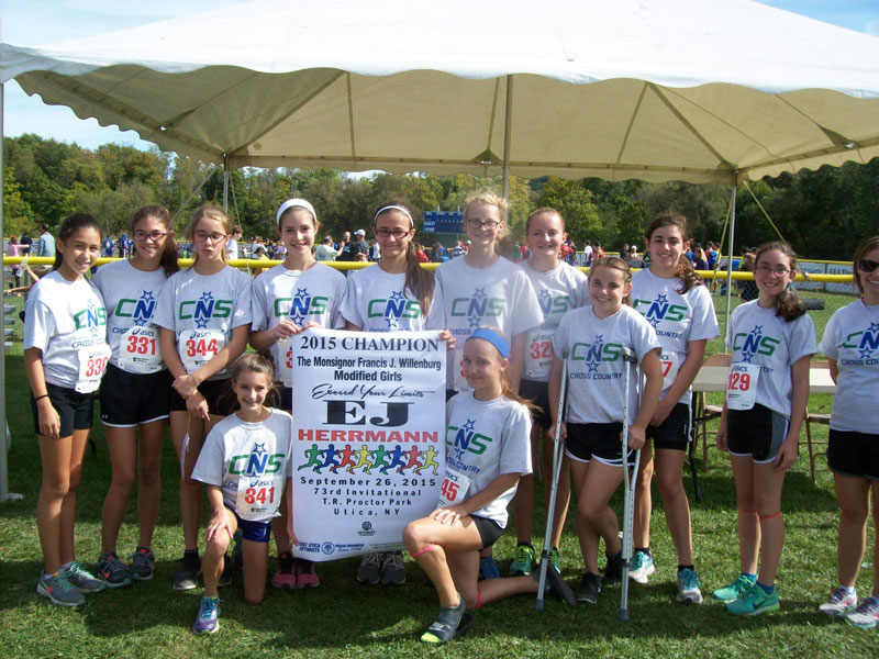 Image of the Monsignor Francis J. Willenburg Girls Modified winning team Cicero-North Syracuse