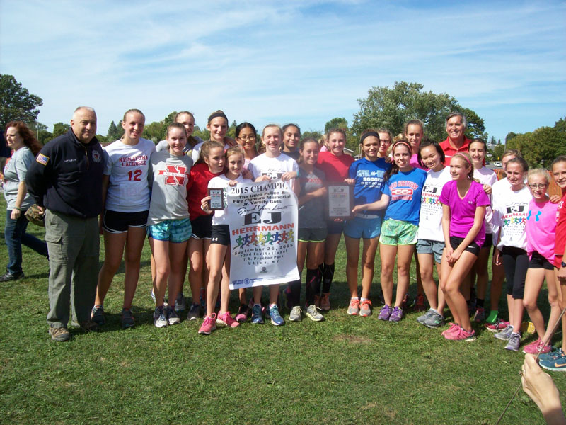 Image of the Utica Police and Fire Fighters Memorial Girls JV winning team Niskayuna