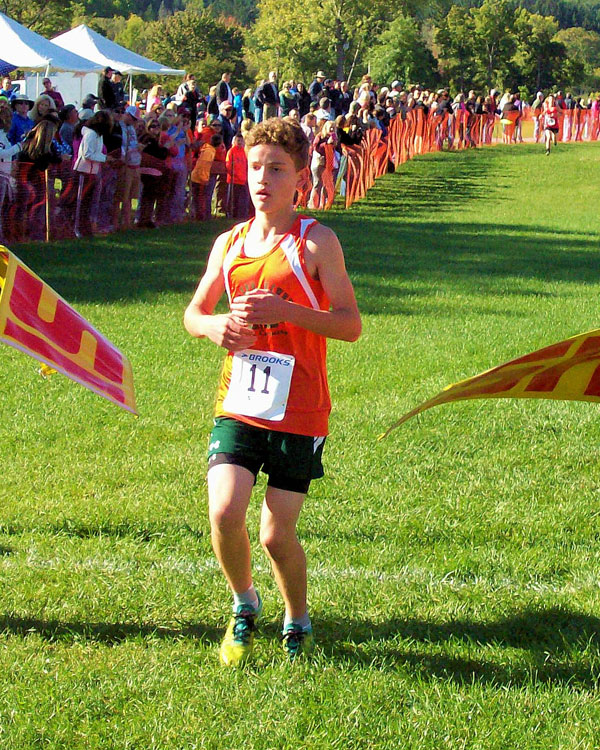Image of the Mello Testa Boys Modified race winner Colton Kempney from Beaver River