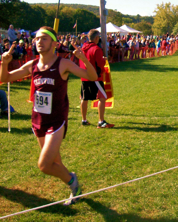 Image of the Bill DeLude Boys Varsity race winner CJ Militello from Clinton