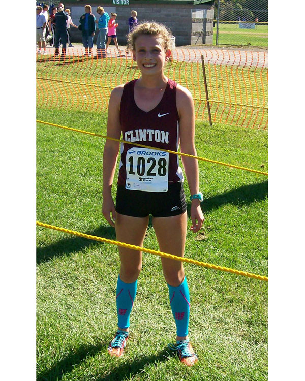 Image of the Dave D'Alessandro Girls Varsity race winner Emma Novak from Clinton