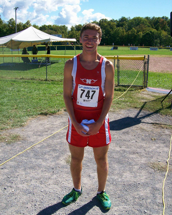 Image of the Brian Dodge Boys JV race winner Matt Tate from Niskayuna