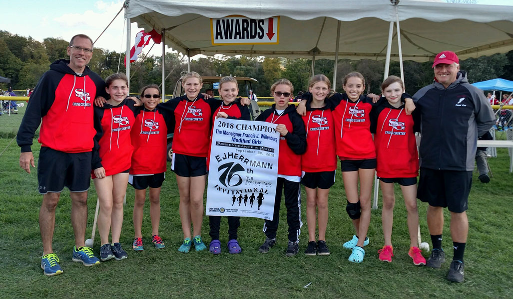 Image of the Monsignor Francis J. Willenburg Girls Modified winning team Scotia-Glenville