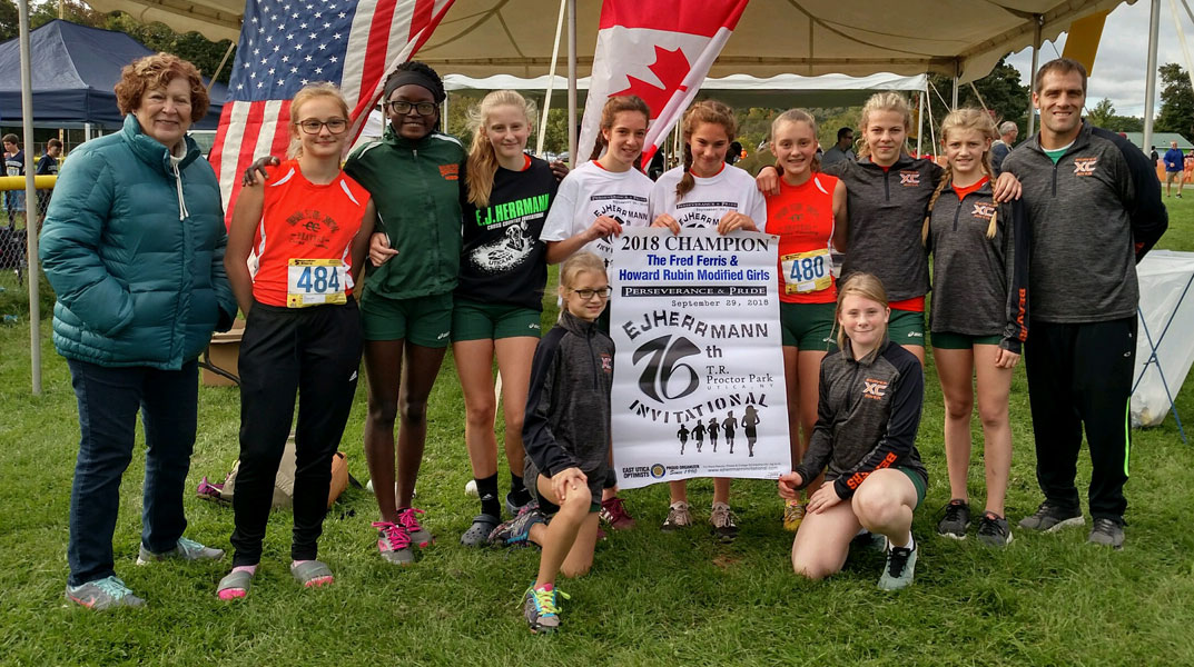 Image of the Fred Ferris and Howard Rubin Girls Modified winning team Beaver River